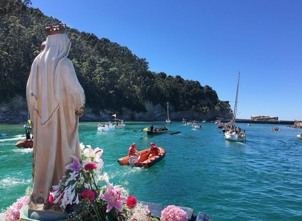 Bodega Crusoe Treasure lleva a la Virgen del Carmen