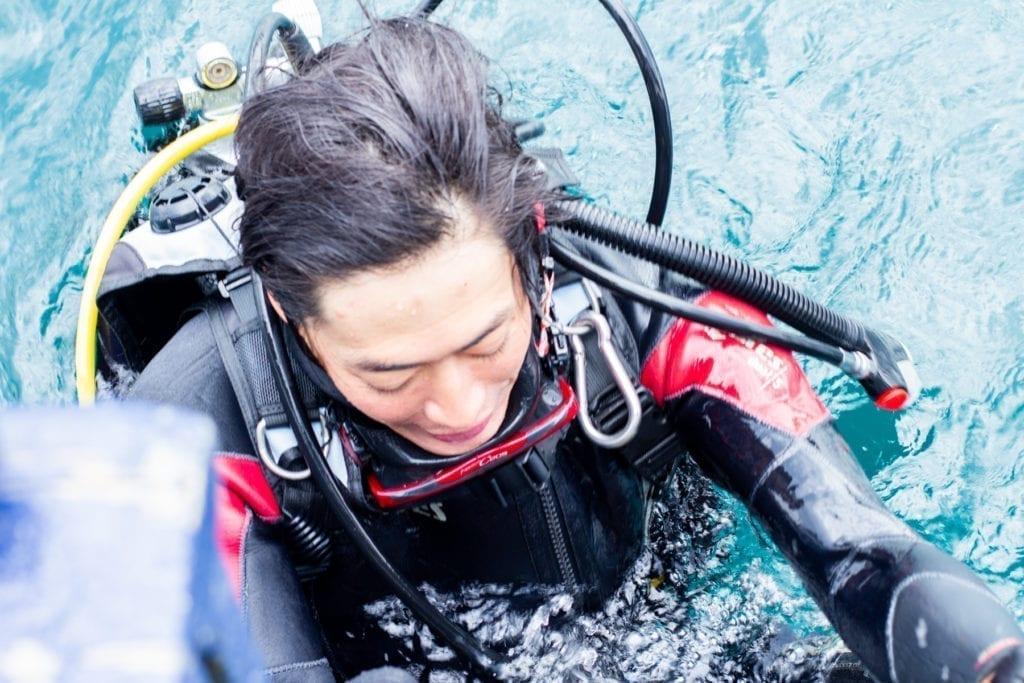 Yusei Nagashima en Bodega Crusoe Treasure
